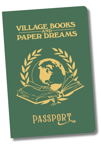 The cover of our Village Books passport