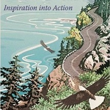 Inspiration into Action: eagle flying over a beach road that looks like Chuckanut Drive