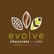 Evolve Chocolate + Cafe logo