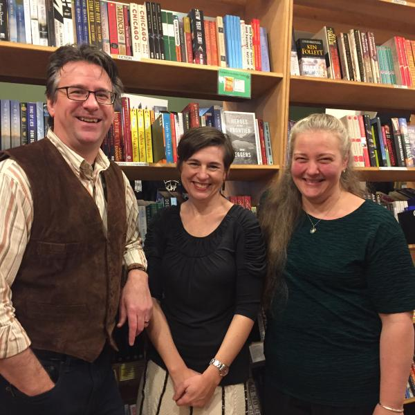 Paul Hanson, Kelly Evert, & Sarah Hutton at Village Books